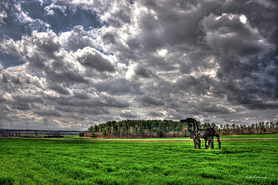 Photograph - A Cloudy Day Winter Wheat The Iron Horse Art by Reid Callaway