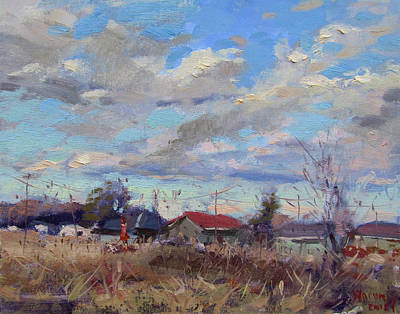 Painting - A Cloudy Day by Ylli Haruni