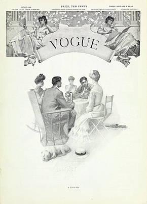 A Club Tea Art Print