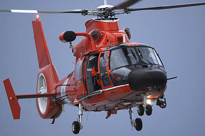 Single Object Photograph - A Coast Guard Mh-65 Dolphin Helicopter by Stocktrek Images
