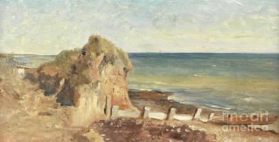 A Coastal Study Art Print by George Hemming Mason