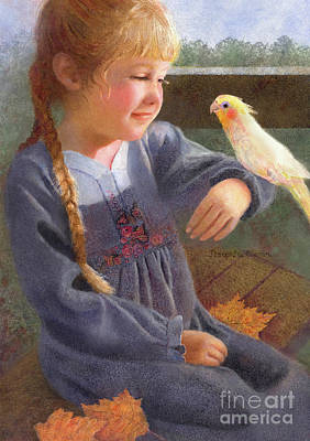 Painting - A Cockatiel Named Sunshine by Nancy Lee Moran