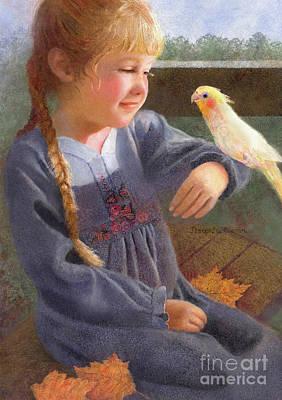 Painting - A Cockatiel Named Sunshine by Nancy Lee Moran