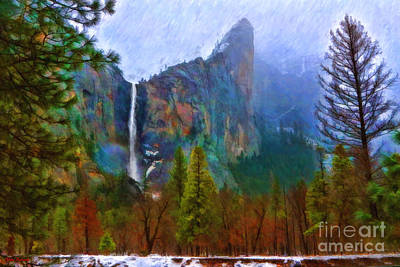 Photograph - A Cold Bridalveil Fall Morning by Blake Richards