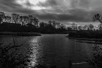 Photograph - A Cold November Day In The Wetlands by Edward Peterson