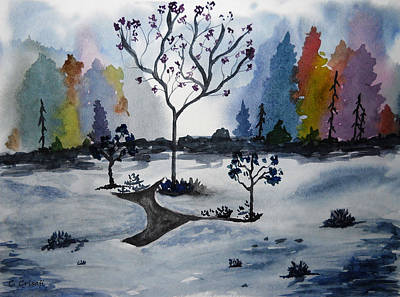 Painting - A Cold Winter Day by Carol Crisafi