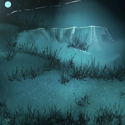 Digital Art - A  Cold Winters Night by Artful Oasis