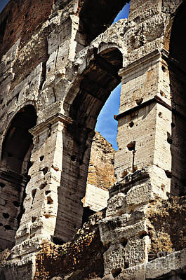 Photograph - A  Colosseum Arch by Eric Liller