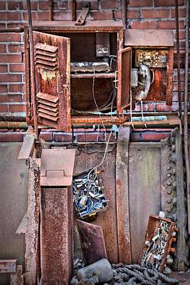 Print featuring the photograph A Collaboration Of Rust by DJ Florek