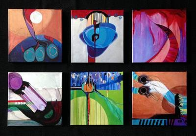 Painting - A Collection Of Embellished Giclees by Marlene Burns