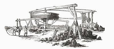 Collier Drawing - A Colliery In The Early 19th Century by Vintage Design Pics