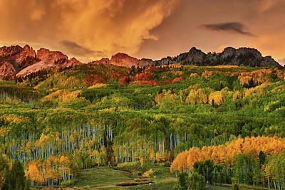 Art Print featuring the photograph A Colorado Autumn Along Kebler by John De Bord