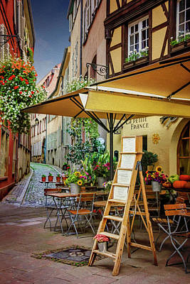 Digital Art - A Colorful Corner Of Strasbourg France by Carol Japp