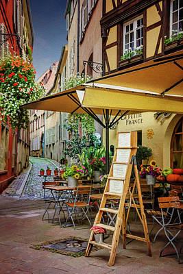 A Colorful Corner Of Strasbourg France Art Print