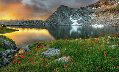 Restful Photograph - A Colorful Mountain Morning by Leland D Howard