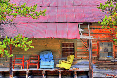 Photograph - A Colorful Porch. by Richard J Cassato