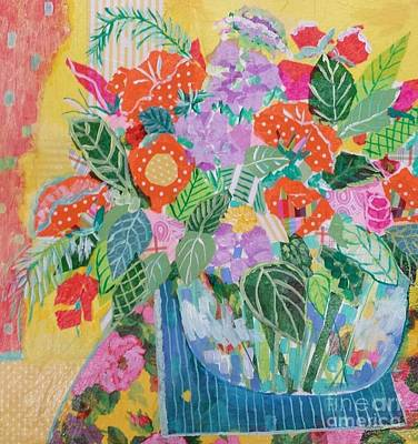 Mixed Media - A Colorful Still Life by Rosemary Aubut