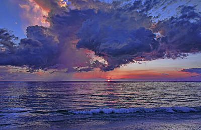 A Summer Evening Photograph - A Colorful Summer Sunset by HH Photography of Florida