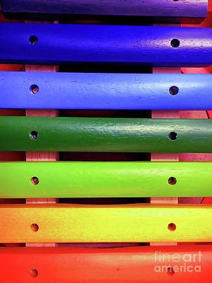 A Colorful Xylophone Art Print