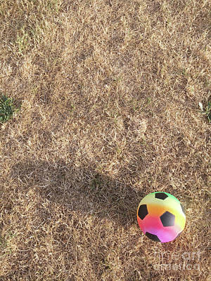 Photograph - A Colourful Football by Tom Gowanlock