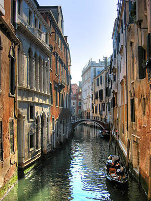 Photograph - A Common Scene In Venice by Jessica Tabora