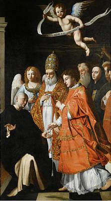 Catholic For Sale Painting - A Communion Of Martyrs by Attributed to Andrea Commodi