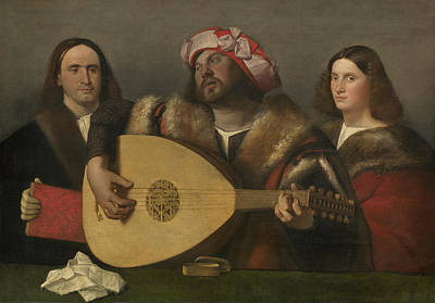 Lute Painting - A Concert by Giovanni de Busi Cariani