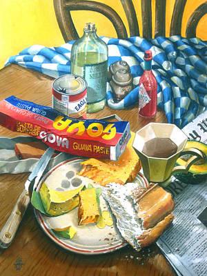 A Conch Breakfast Art Print by Bob  George