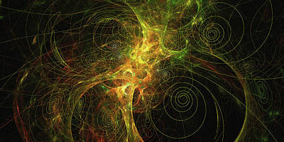 Digital Art - A Conclave Of Spirals by Digital Photographic Arts