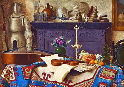 Spiers Painting - A Connoisseur's Collection Still Life  by MotionAge Designs