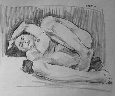Drawing - A Contortionist by Robert Holden