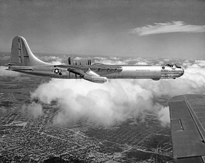 Mid-air Photograph - A Convair B-36f Peacemaker by Underwood Archives