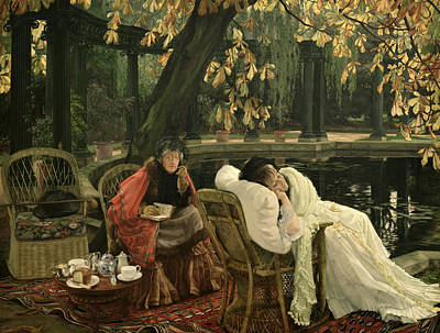Elderly Painting - A Convalescent by James Jacques Joseph Tissot