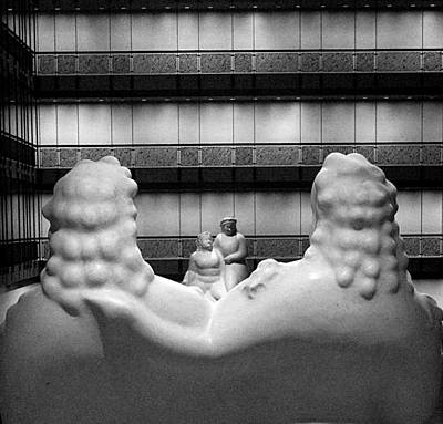 Photograph - A Conversation In Marble by Cornelis Verwaal
