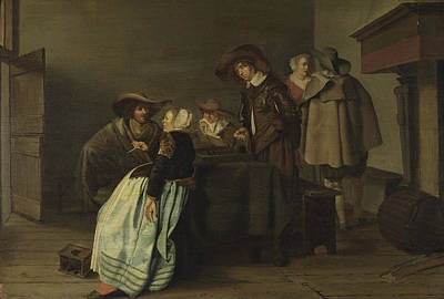 Painting - A Conversation by Pieter Codde