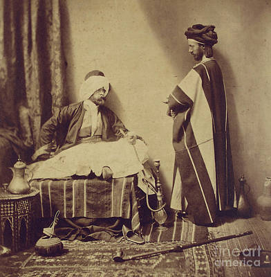Orientalists Photograph - A Conversation While Smoking, 1858 by Roger Fenton