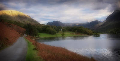 A Corner Of Crummock Water Art Print by Anthony Dudley
