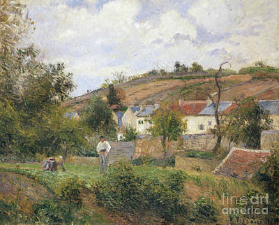 Painting - A Corner Of Le Hermitage, Pontoise, 1878 by Camille Pissarro
