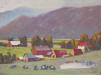 Distant Mountains Painting - A Corner Of New York  by Len Stomski