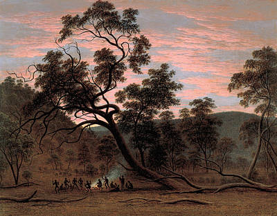 Painting - A Corroboree Of Natives In Mills Plains by John Glover