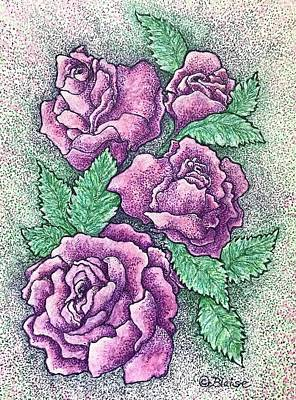 Mixed Media - Lo, How A Rose by Yvonne Blasy