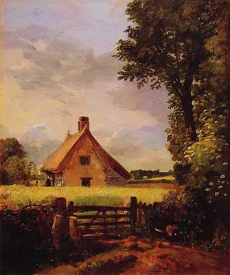 Painting - A Cottage In A Cornfield 1817 by Constable John