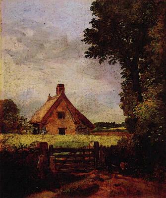 A Cottage In A Cornfield Art Print
