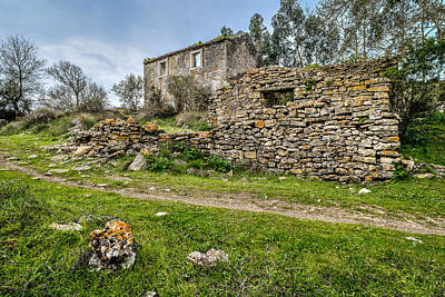 Photograph - A Cottage In Ruins by Marco Oliveira
