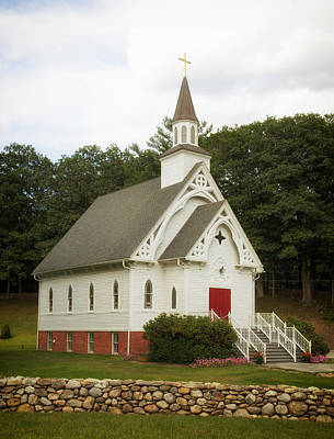 A Country Church In Connecticut Art Print by Mountain Dreams