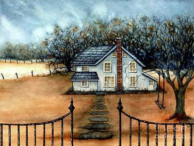 Painting - A Country Home by Janine Riley