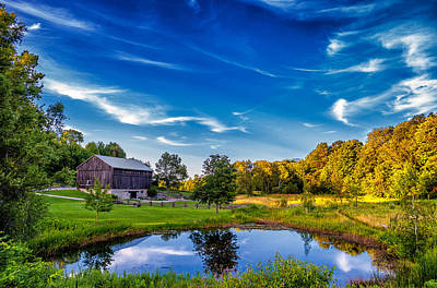 Barns Digital Art - A Country Place by Steve Harrington