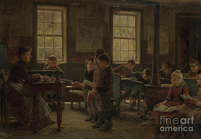 Country Schools Painting - A Country School by Edward Lamson Henry