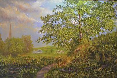 Painting - A Country Walk In Bristal by Michael Mrozik