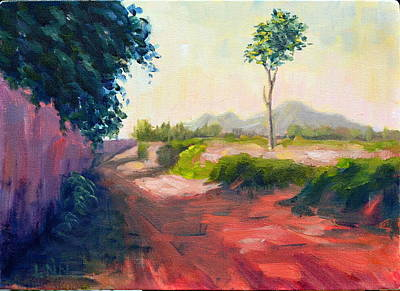 Painting - A Countryside Road by Ningning Li